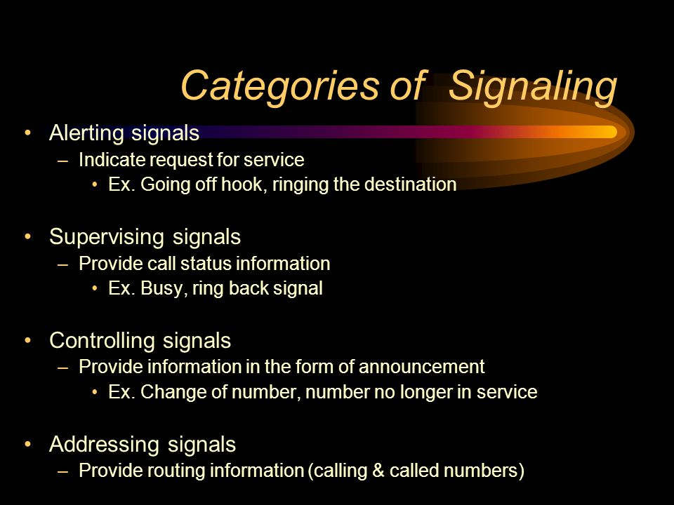 Categories of Signaling