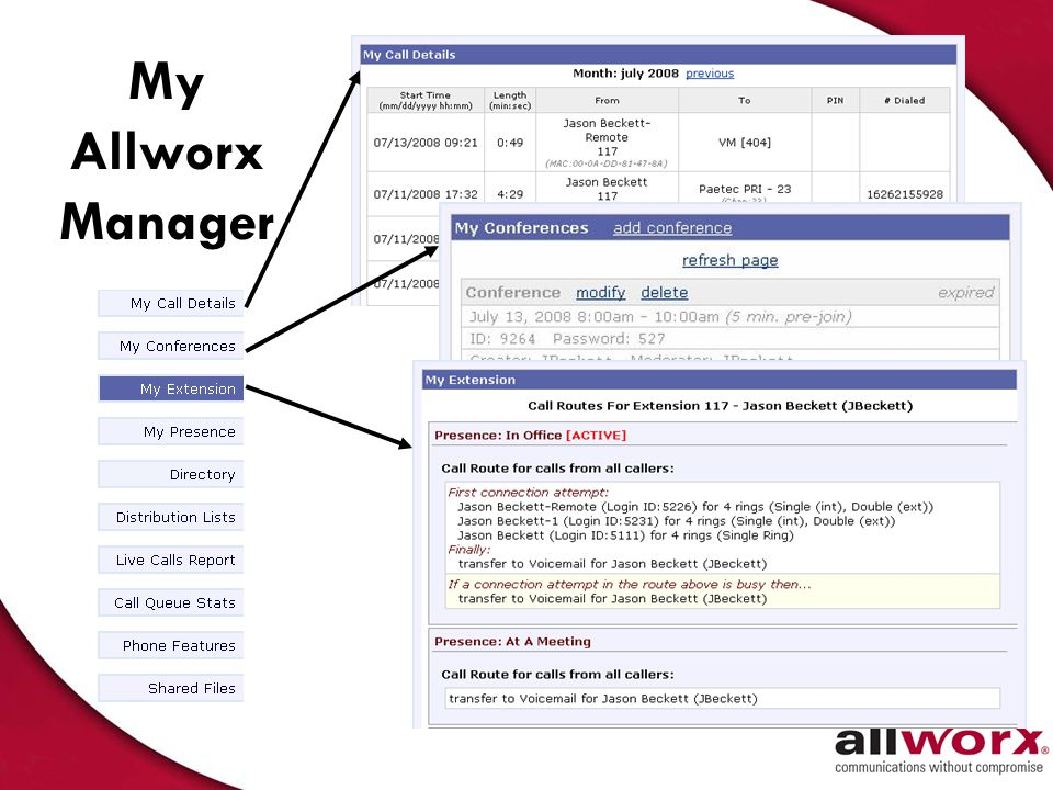 My Allworx Manager