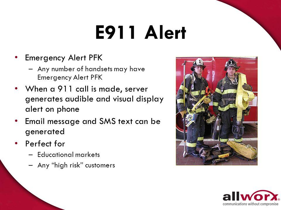 E911 Alert Emergency Alert PFK