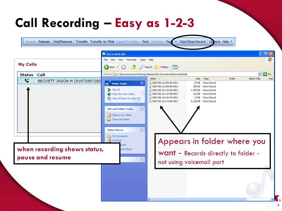 Call Recording – Easy as 1-2-3