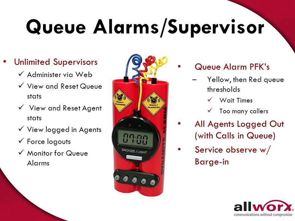 Queue Alarms/Supervisor