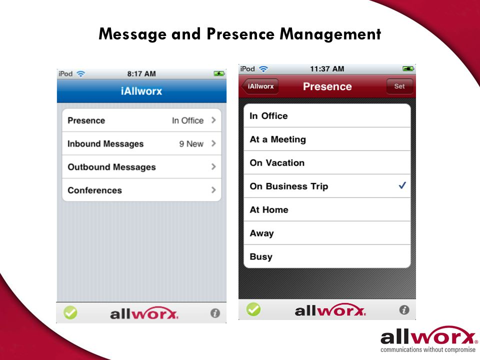 Message and Presence Management