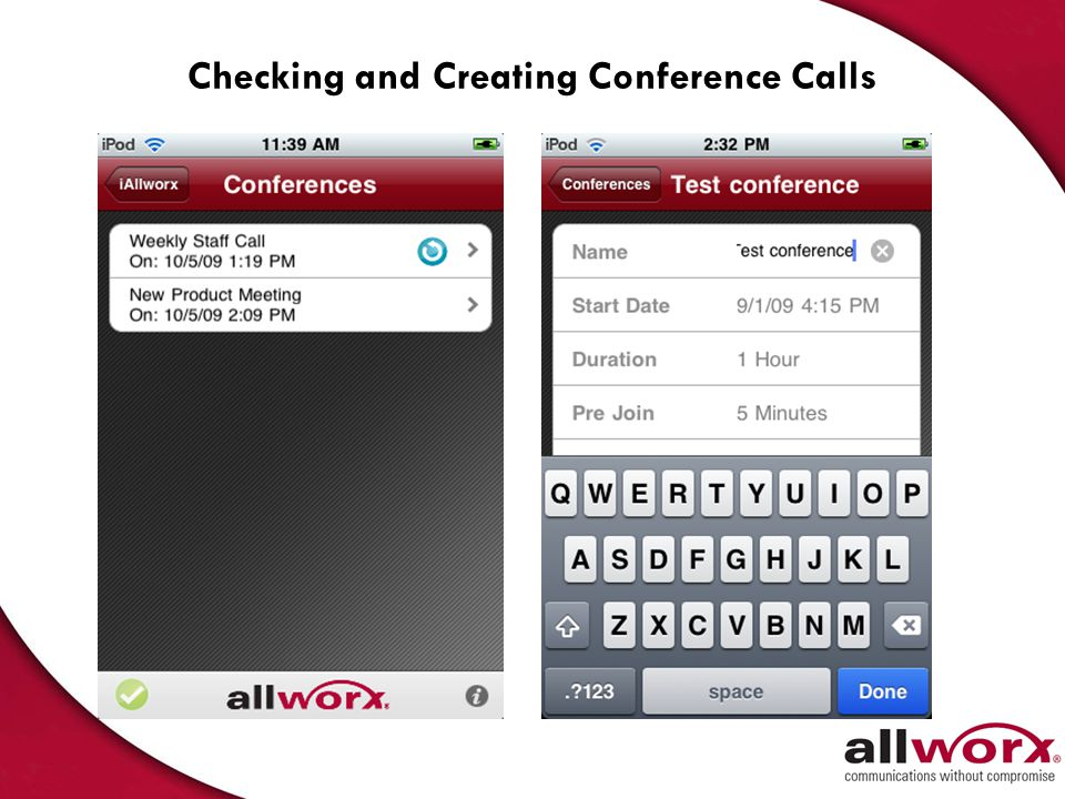 Checking and Creating Conference Calls