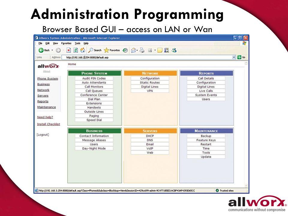Administration Programming