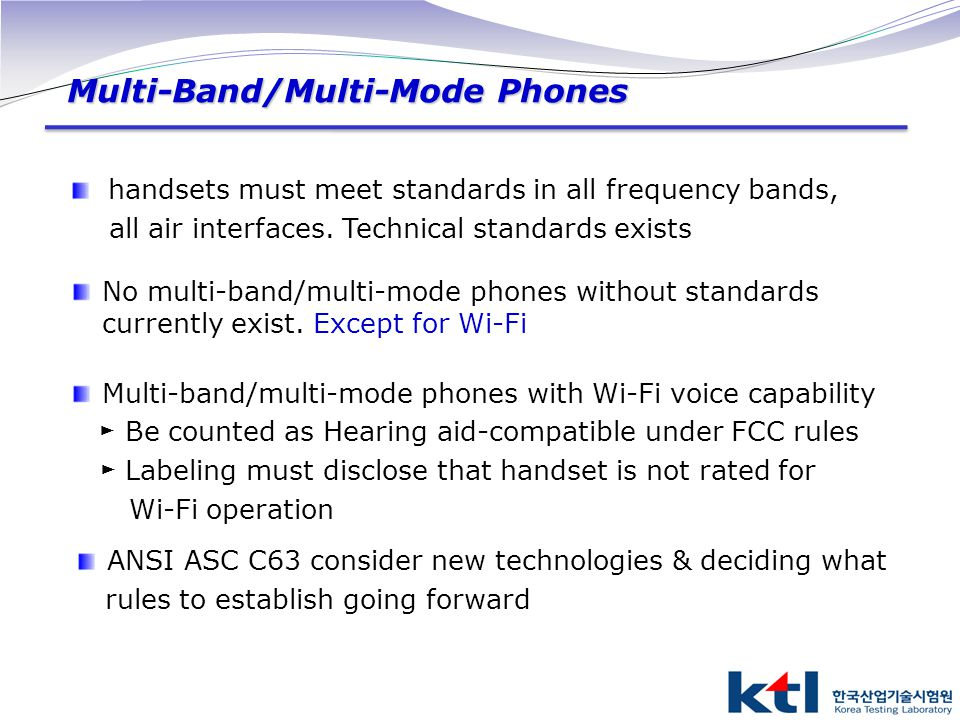 Multi-Band/Multi-Mode Phones