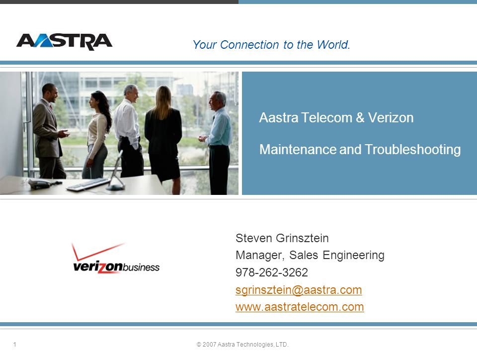 Aastra Telecom & Verizon Maintenance and Troubleshooting