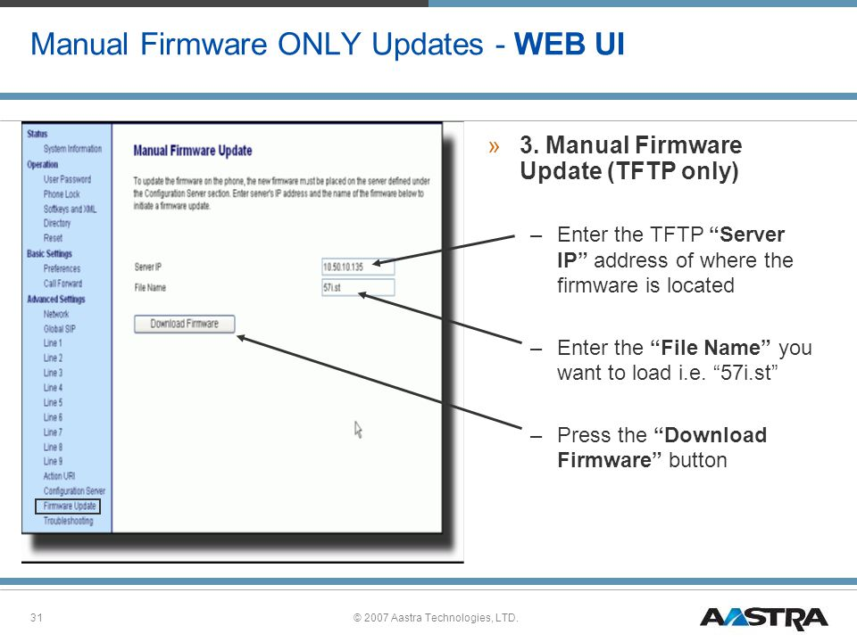 Manual Firmware ONLY Updates - WEB UI