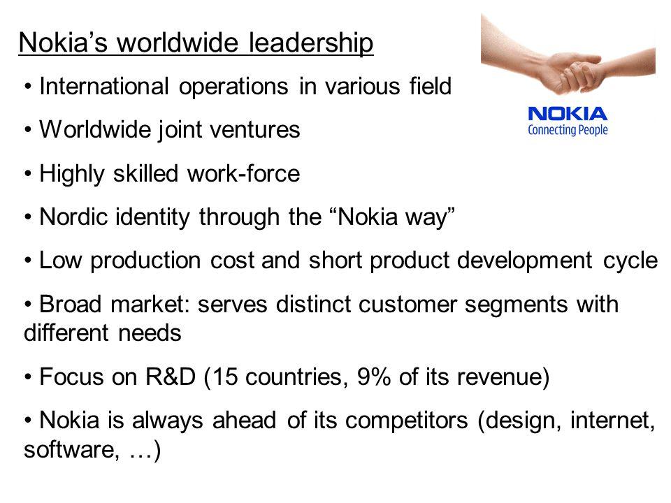 Nokia's worldwide leadership