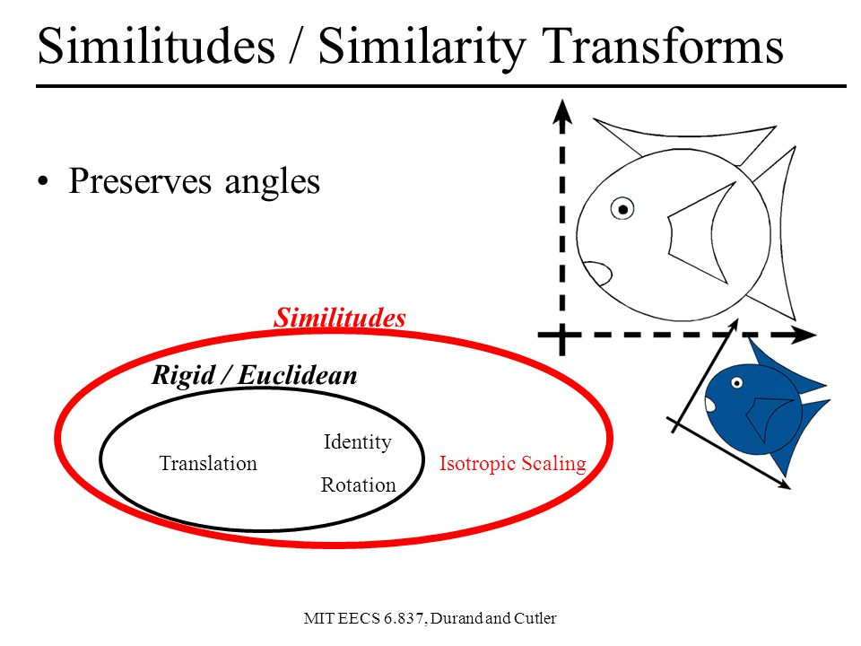 Similitudes / Similarity Transforms