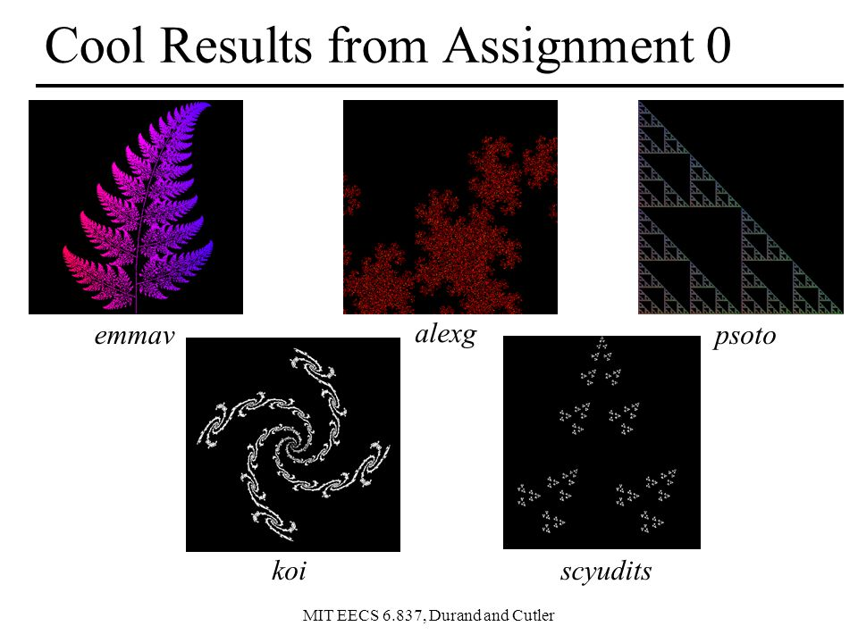 Cool Results from Assignment 0