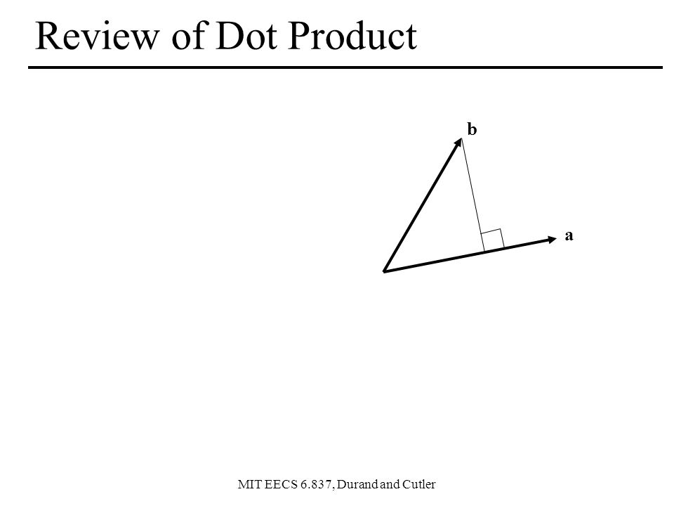 Review of Dot Product b a