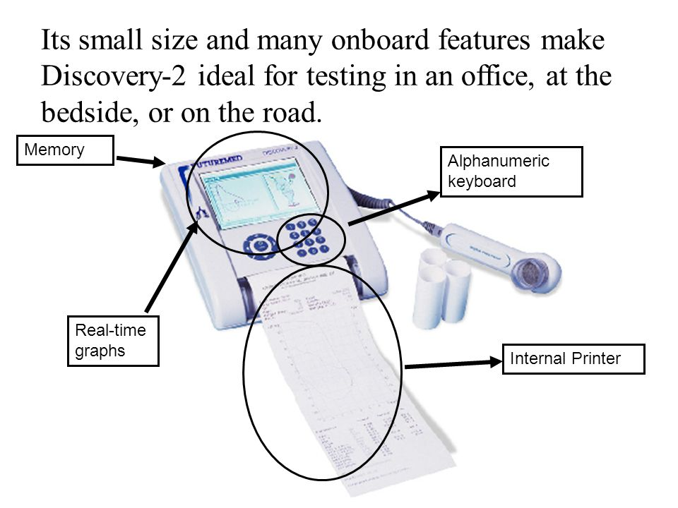 Its small size and many onboard features make Discovery-2 ideal for testing in an office, at the bedside, or on the road.