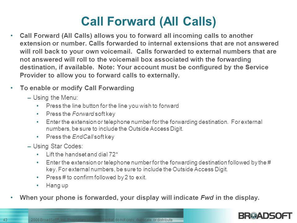 Call Forward (All Calls)