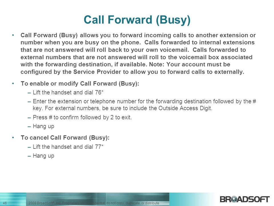 Call Forward (Busy)