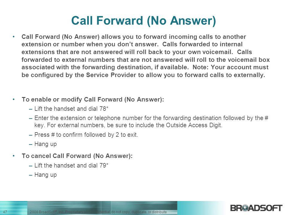 Call Forward (No Answer)