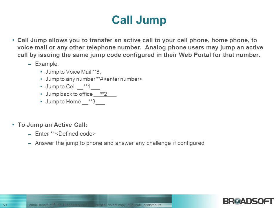 Call Jump