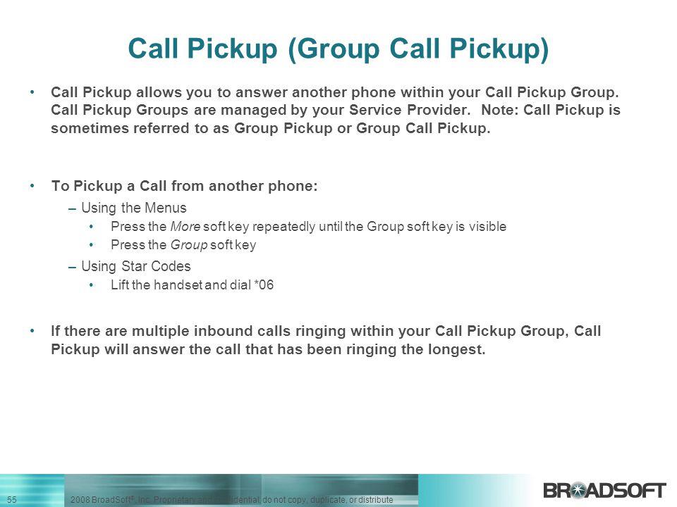 Call Pickup (Group Call Pickup)
