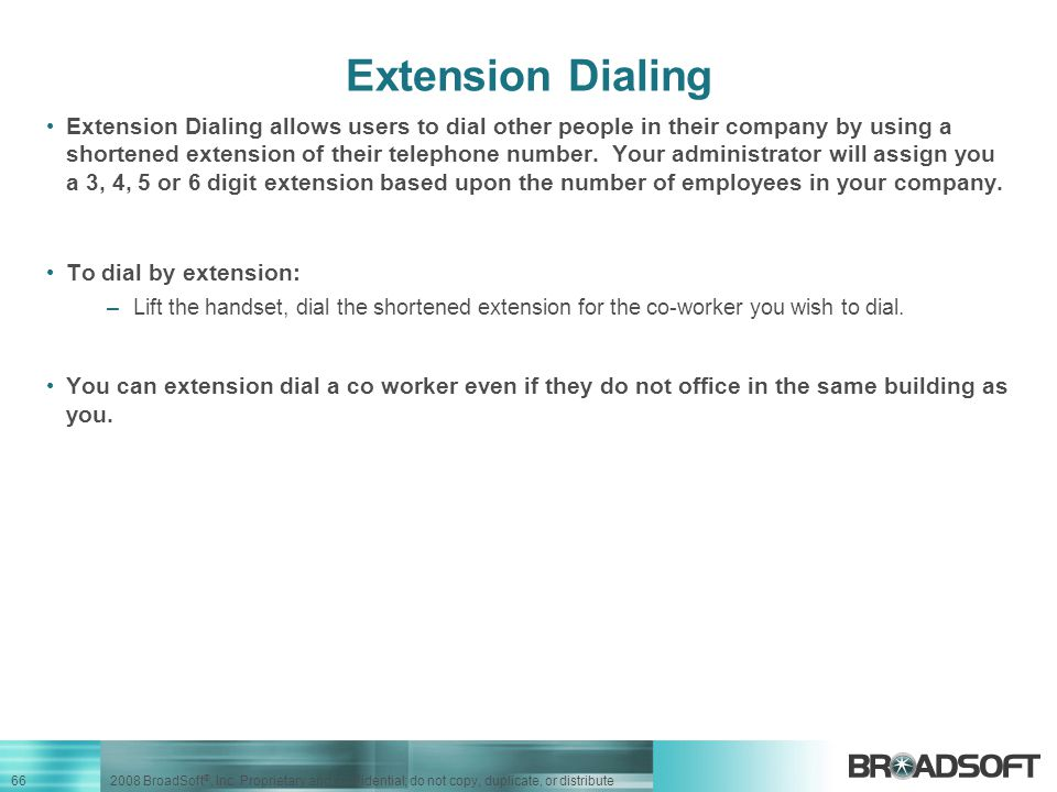 Extension Dialing
