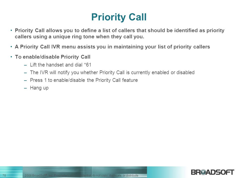 Priority Call