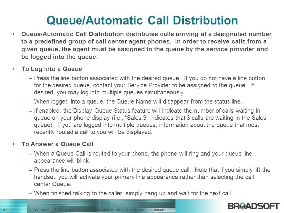 Queue/Automatic Call Distribution