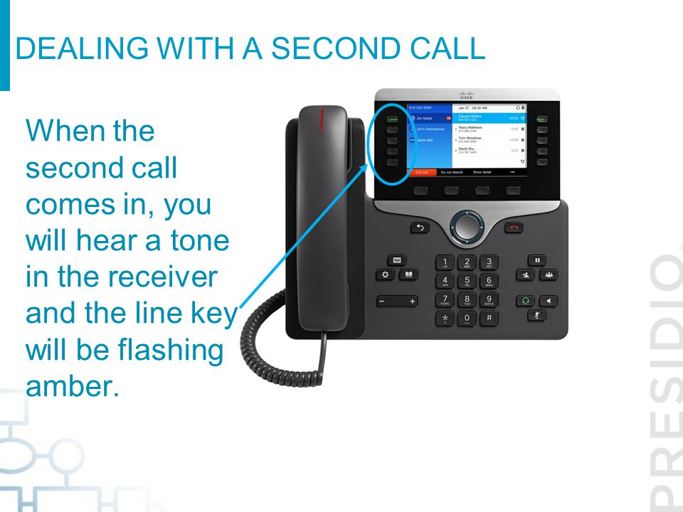 Dealing with a second call