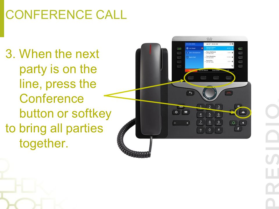 Conference call 3.