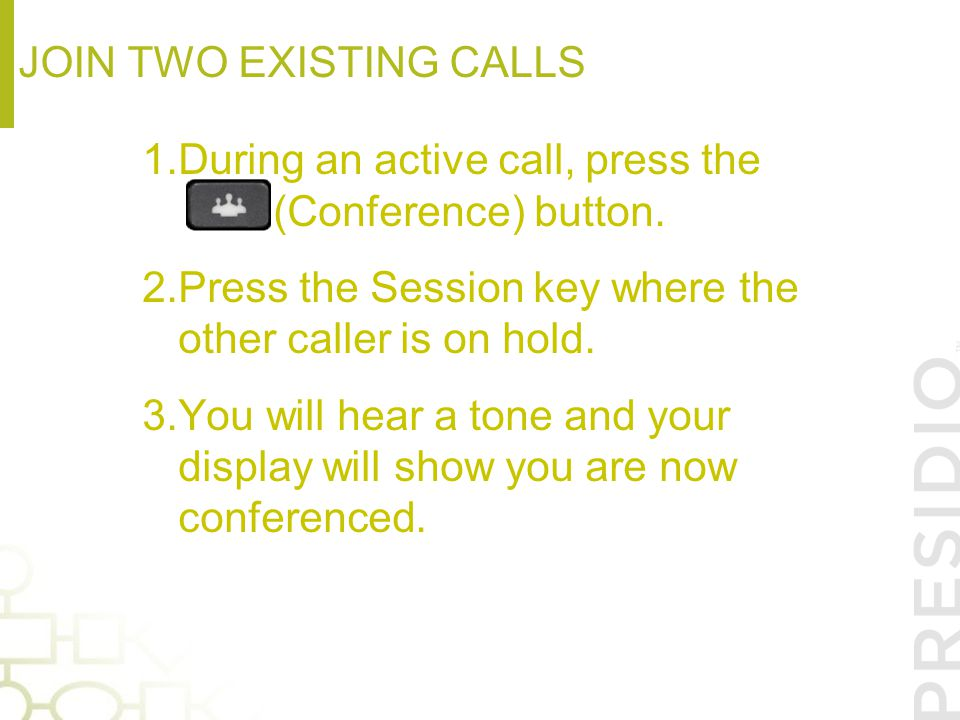 Join two existing calls