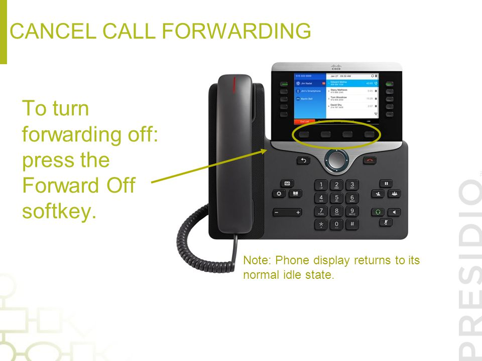 Cancel call forwarding