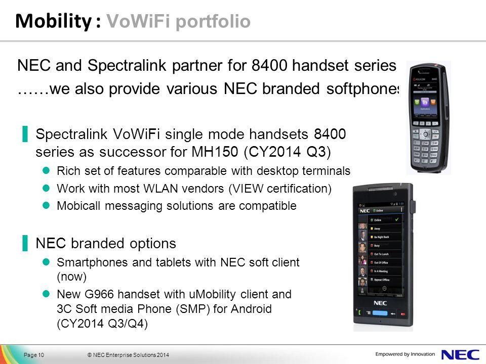 Mobility : VoWiFi portfolio