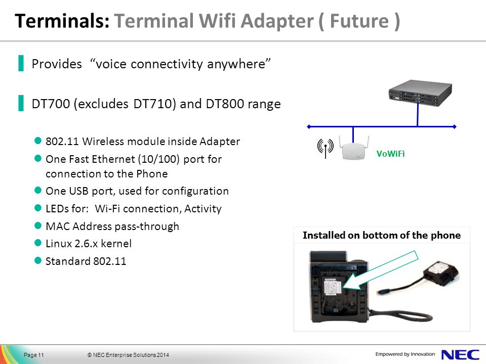 Terminals: Terminal Wifi Adapter ( Future )