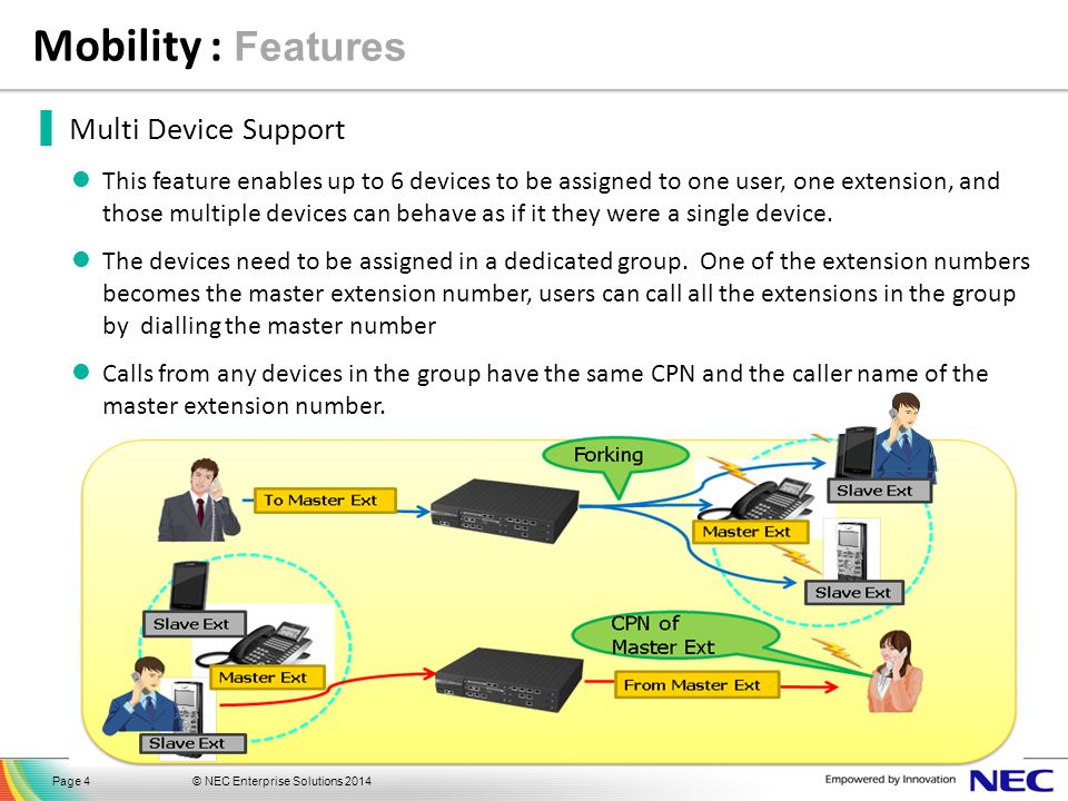 Mobility : Features Multi Device Support