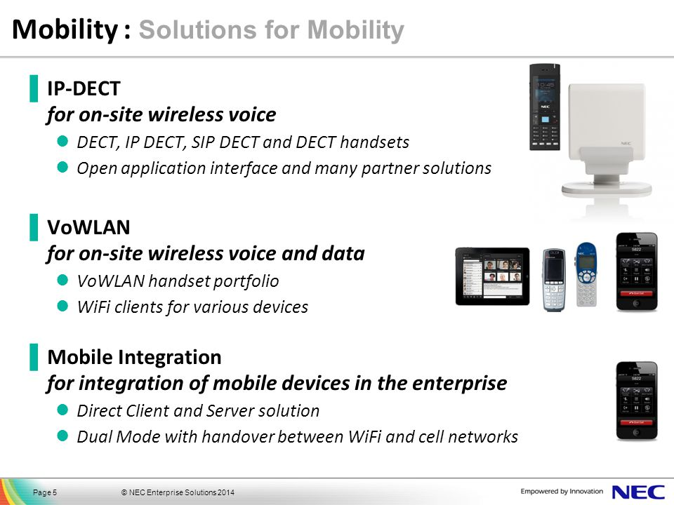 Mobility : Solutions for Mobility