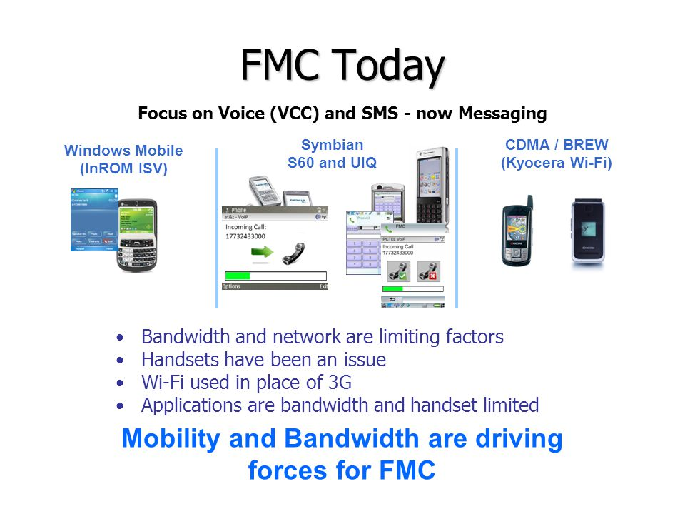 FMC Today Mobility and Bandwidth are driving forces for FMC