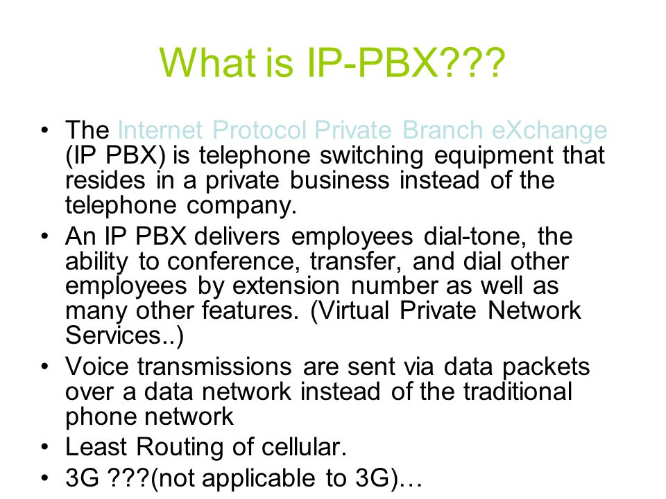 What is IP-PBX