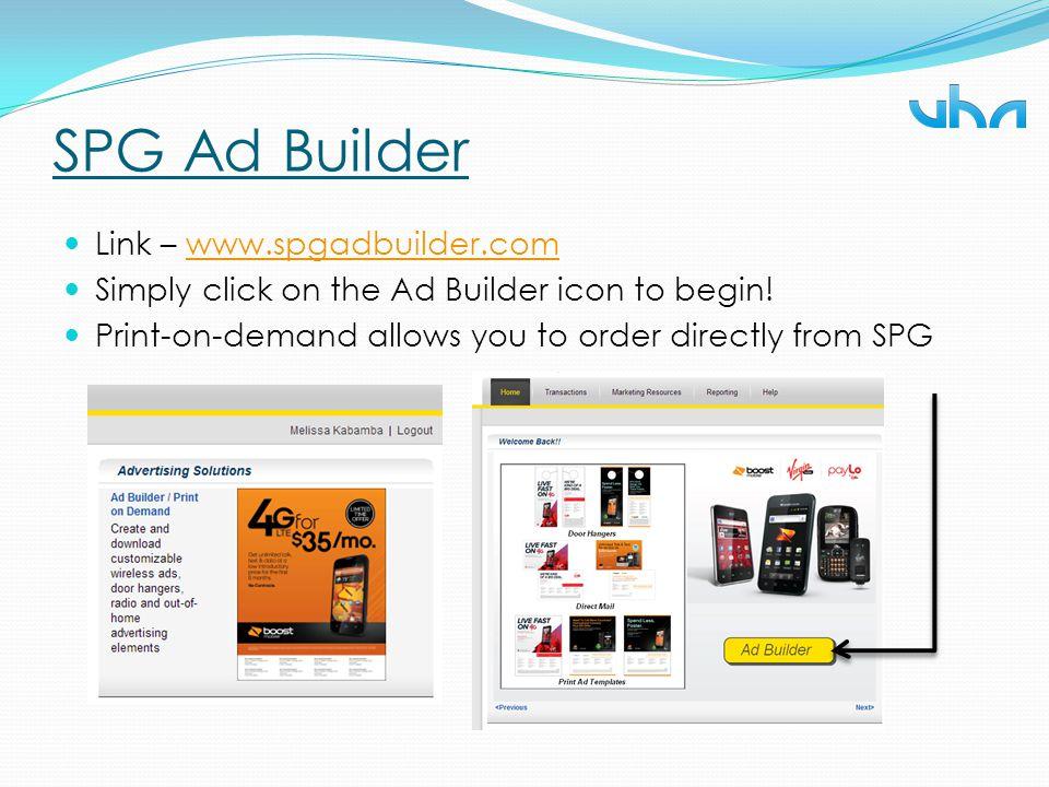 SPG Ad Builder Link – www.spgadbuilder.com