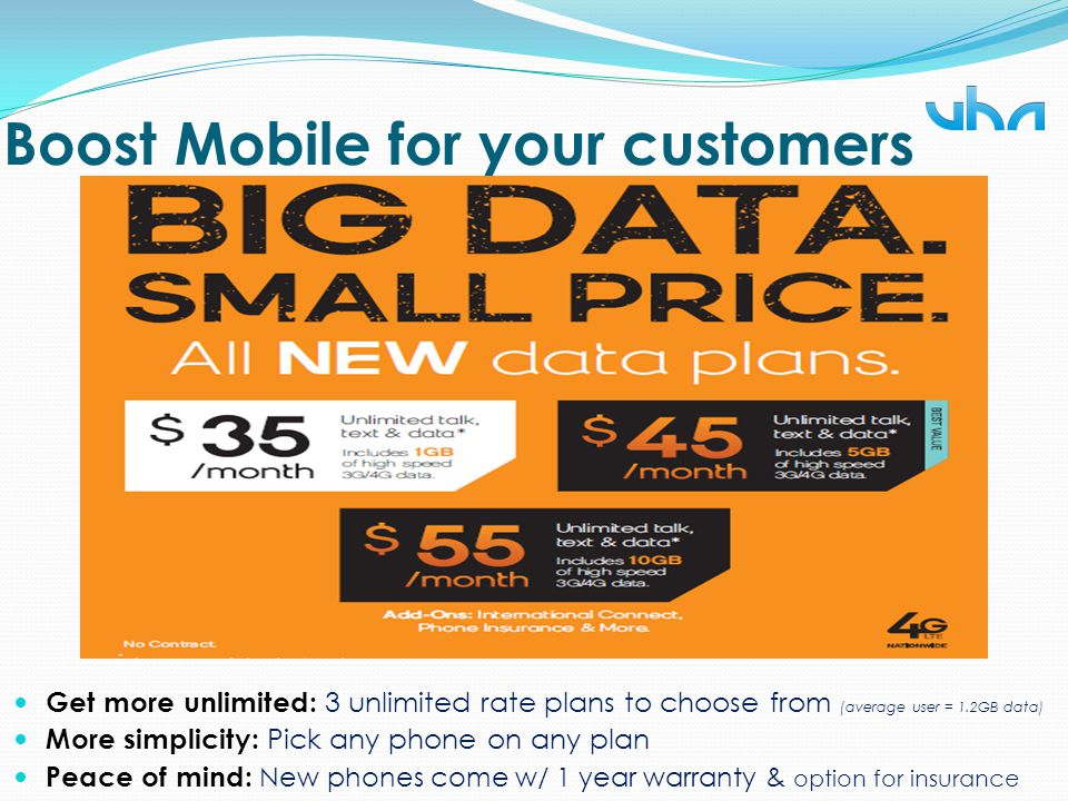 Boost Mobile for your customers