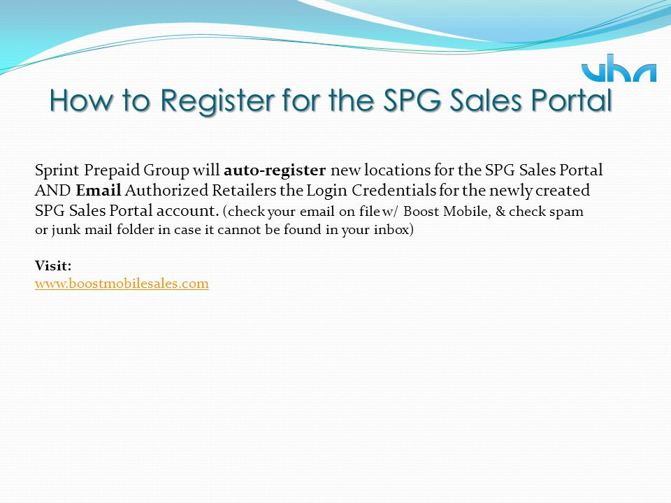 How to Register for the SPG Sales Portal