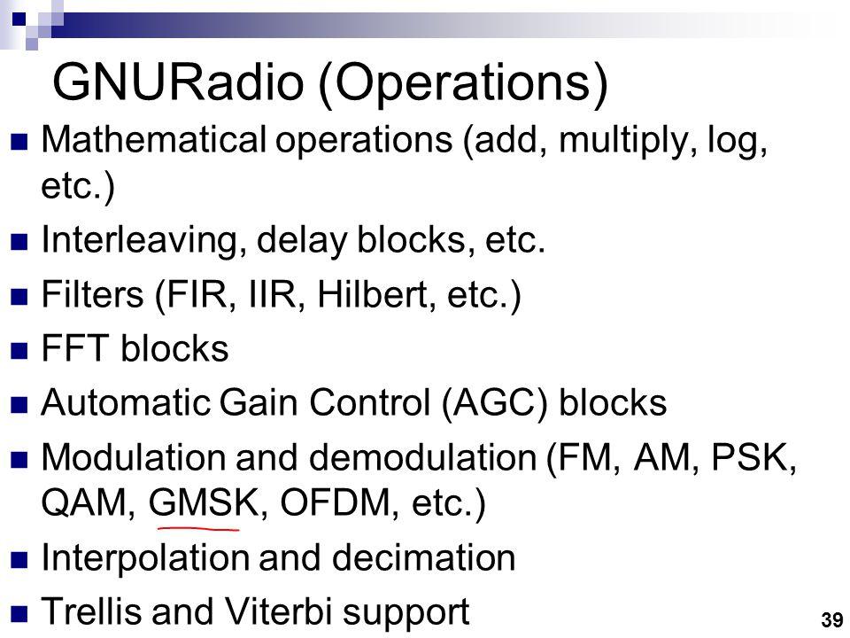 GNURadio(Sources/Sinks)