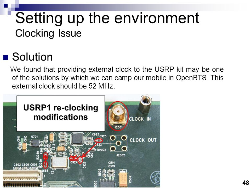 Setting up the environment ClockTamer Circuit