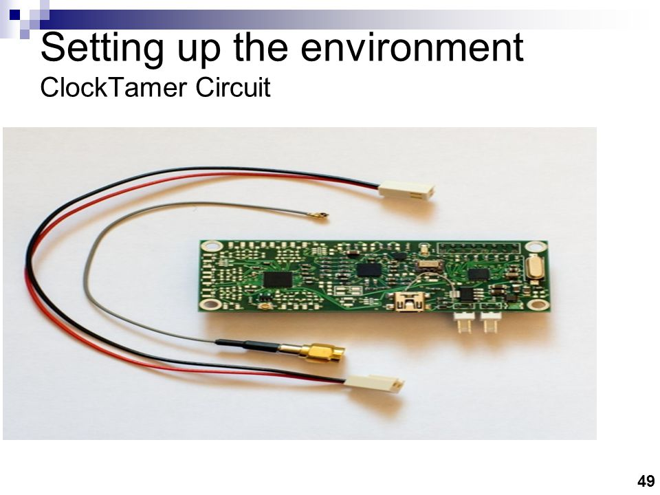 Setting up the environment Function Generator As External Clock source
