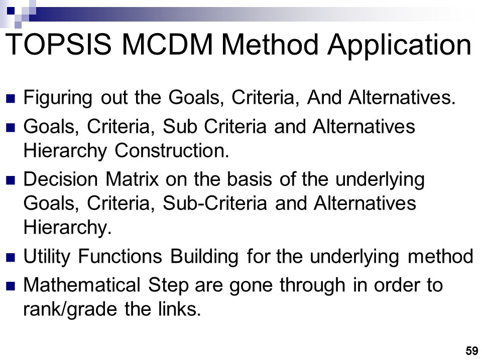 TOPSIS MCDM Method Application
