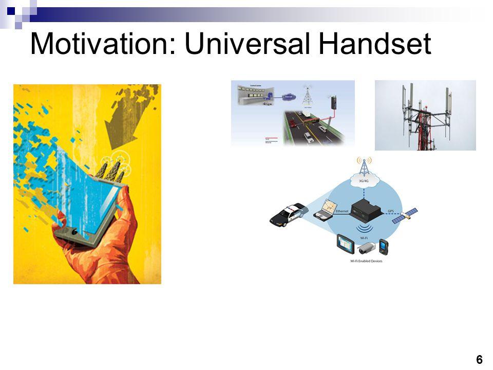 Motivation:Basestation Manufacturers