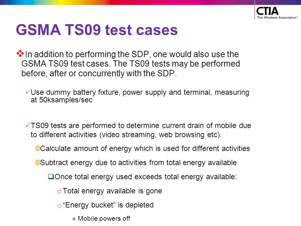 GSMA TS09 test cases