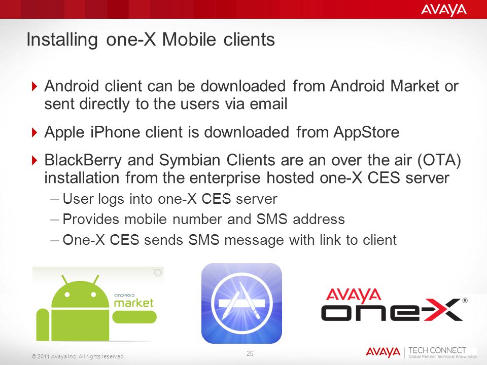 Installing one-X Mobile clients