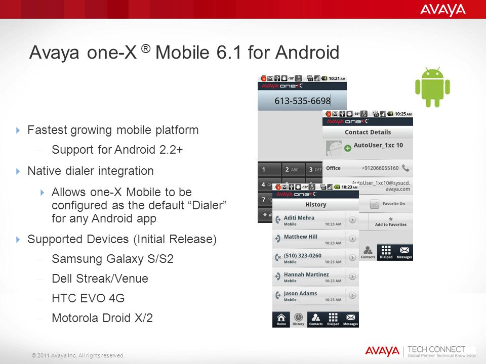Avaya one-X ® Mobile 6.1 for Android