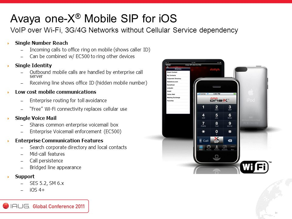 Avaya one-X® Mobile SIP for iOS