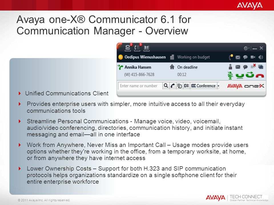 Avaya one-X® Communicator 6.1 for Communication Manager - Overview