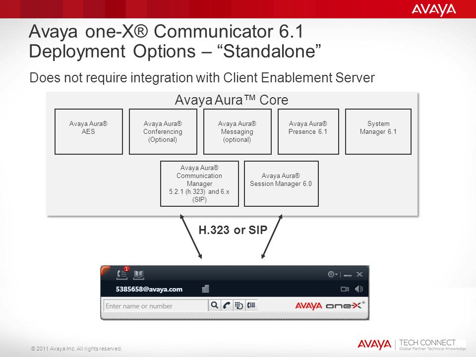 Avaya one-X® Communicator 6.1 Deployment Options – Standalone