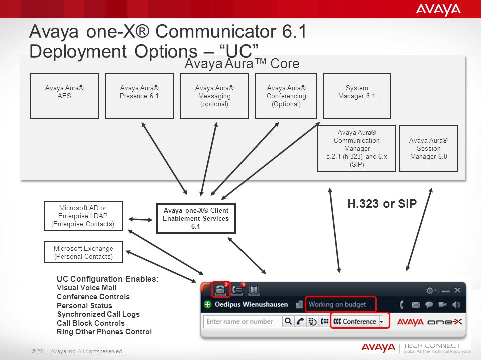 Avaya one-X® Communicator 6.1 Deployment Options – UC