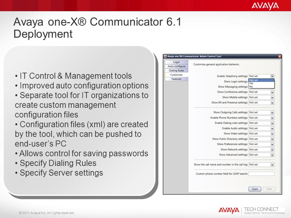 Avaya one-X® Communicator 6.1 Deployment